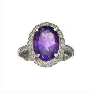 5.47 Oval Cut Purple Amethyst Ring